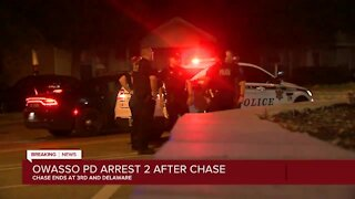 Owasso police arrest two people after early morning chase