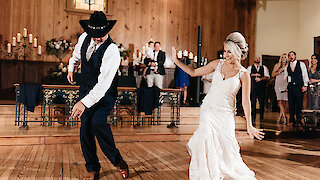 This daughter-father wedding dance had every guest on their feet