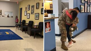 Military homecoming leaves even the teachers in tears