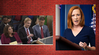 Jen Psaki snaps at reporter's question about censoring social media posts