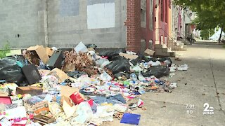 Deceased individual's items dumped in vacant lot in Southwest Baltimore
