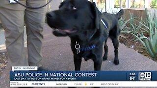 Arizona State University police need votes to win K9 grant