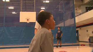 The Denver Police Department hosts basketball clinic for kids to help bridge gap with community