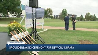 Groundbreaking ceremony for new ORU library