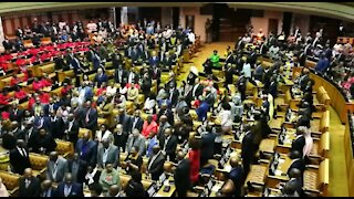 Ramaphosa arrives for state of the nation address (uFB)