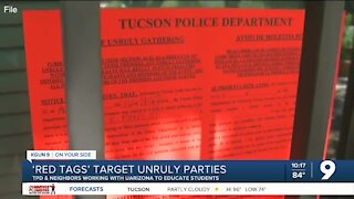 Tucson Police target unruly parties with 'Red Tags'