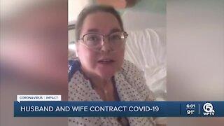 Unvaccinated husband, wife battling COVID-19 at Jupiter Medical Center