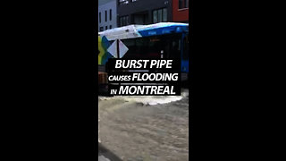 Burst Pipe Causes Flooding In Montreal