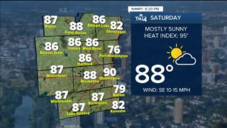 Comfortable evening in store, hot weekend ahead