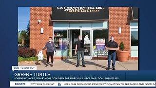 "Greene Turtle says ""We're Open Baltimore!"""