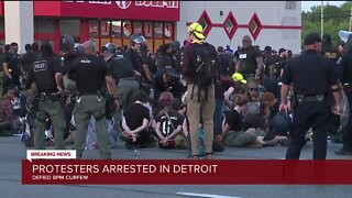 Protesters arrested in Detroit