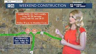 Weekend traffic closures around the Valley