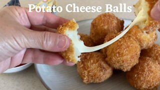 Delicious recipes: How to make potato cheese balls