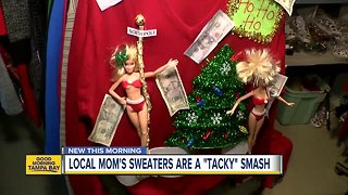 Single mom in Wesley Chapel gains worldwide buzz for 'ugly, tacky' Christmas sweaters