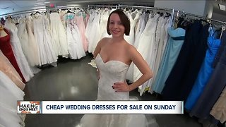 Super cheap wedding dresses for sale this Sunday