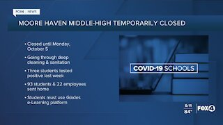 Moore Haven Middle-High temporarily closed
