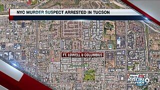 New York murder suspect arrested in Tucson