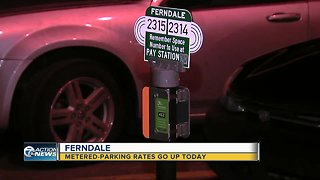 Ferndale metered parking rates double today
