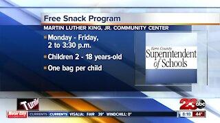 MLK Jr. Community Center snack program