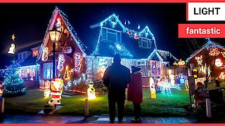 Village transformed into a glorious winter wonderland to raise thousands of pounds for charities