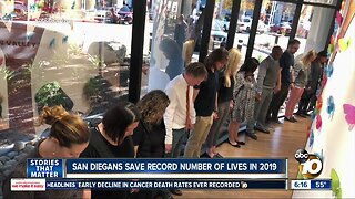 San Diegans save record number of lives in 2019