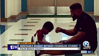 Student behavioral health professional talks about picture that's gone viral