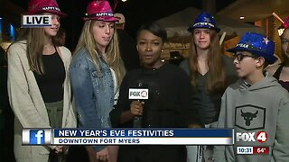 People celebrate New Year's in Downtown Fort Myers