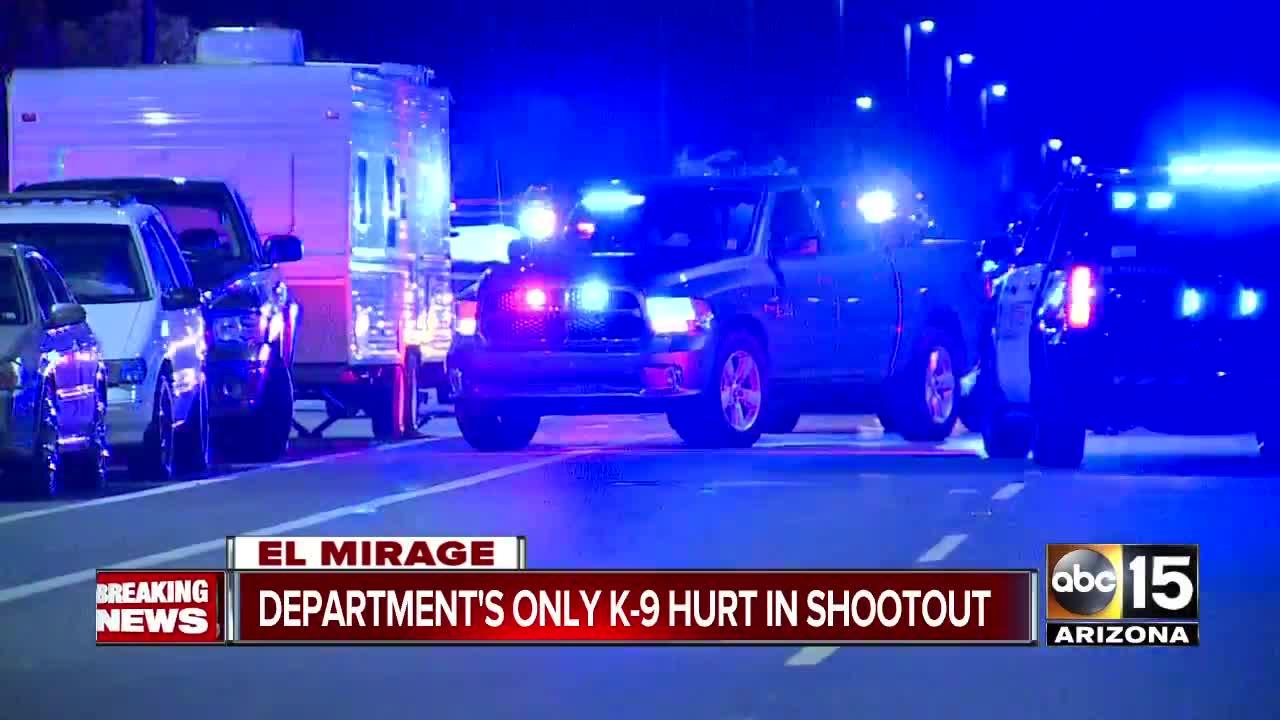 Officer-involved shooting in El Mirage, department's K9 shot