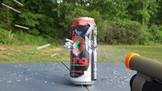 Airsoft Shotgun vs Bang Energy Drink Can