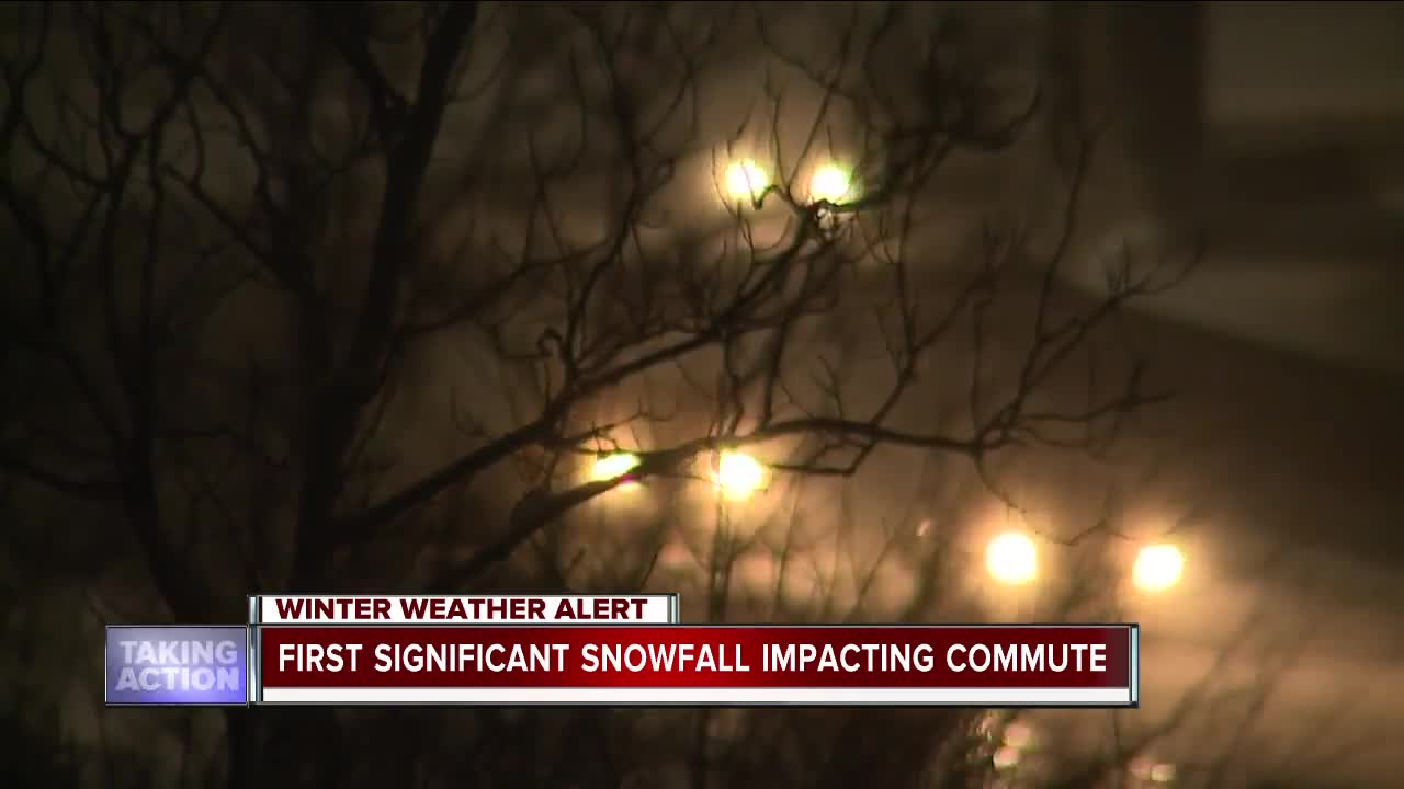 First significant snowfall impacting morning commute in metro Detroit