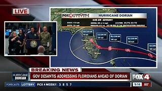 Florida Gov. Ron DeSantis provides an update on Hurricane Dorian