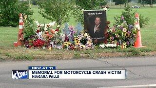 Memorial for motorcycle crash victim