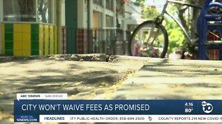 City not waiving sidewalk repair fees