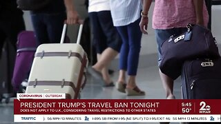 President Trump issues travel restriction between US and Europe