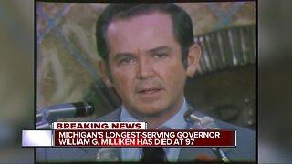 Michigan's longest-serving governor William G. Milliken dies at 97
