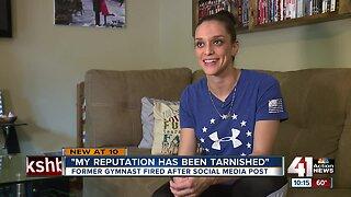 Former gymnast fired after social media post