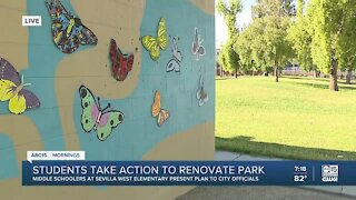 Young students take action to fix up Phoenix neighborhood park