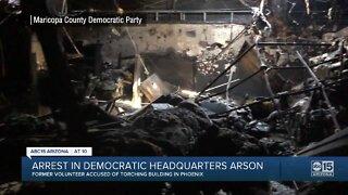 Arrest made in democratic headquarters arson