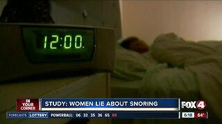 Study: women under-report their snoring
