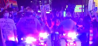 Protesters take to downtown Las Vegas after Breonna Taylor grand jury decision