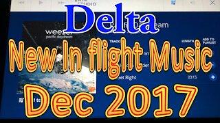 Delta's New In flight Music for December 2017