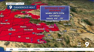 Excessive Heat Warnings continue through Saturday