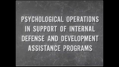 US Army Psychological Operations Film (1968) | The Washington Pundit