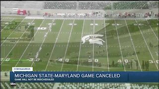 Michigan State's game vs. Maryland canceled