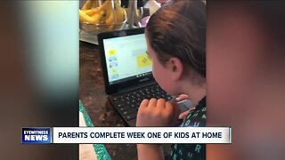 Parents complete week one of kids at home