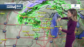 Cloudy, windy Wednesday with scattered showers