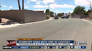 Police work barricade situation in west Las Vegas