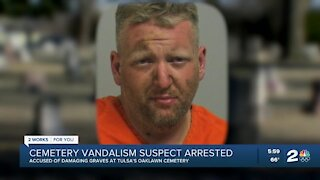 Man arrested after vandalizing Oaklawn Cemetery