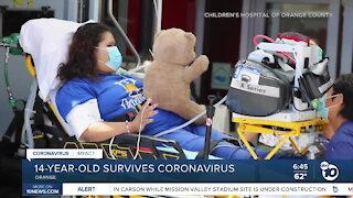 Teen COVID-19 survivor finally released after 2 months in hospital