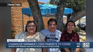 Chandler swimmer loses both parents to COVID-19